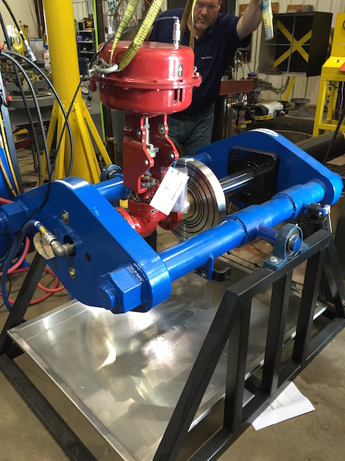 Barbee Tester with Masoneilan control valve