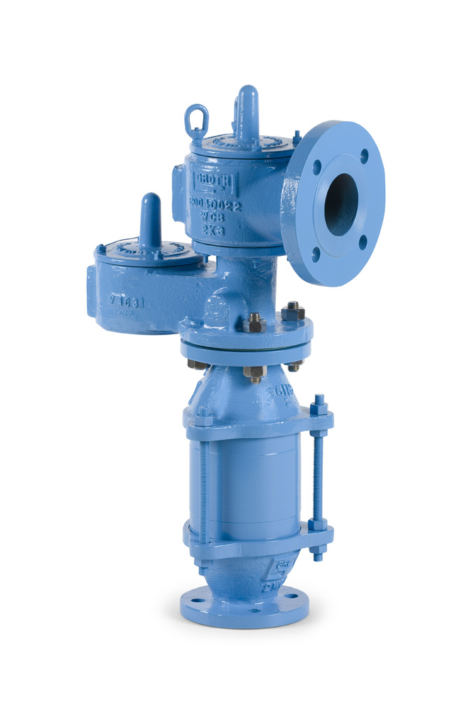 Relief Valve Piping : Model a combination relief valves flame arresters