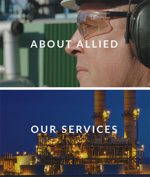 Graphic that says: About Allied and Our Services